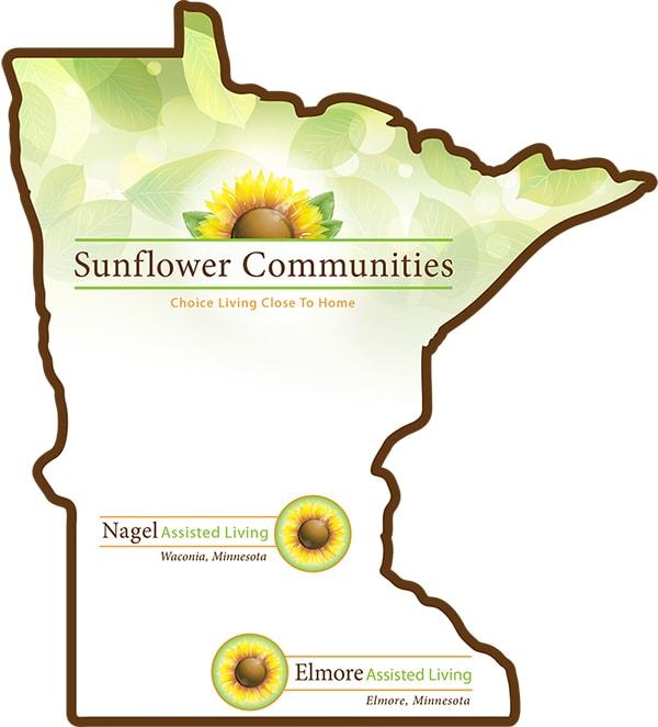 Sunflower Communities map